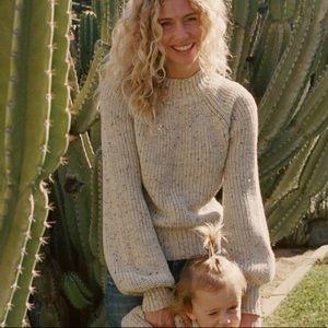 Doen Lulu Sweater Sz Xs Oatmeal